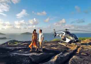 Seychelles : Transferts en hélicoptère