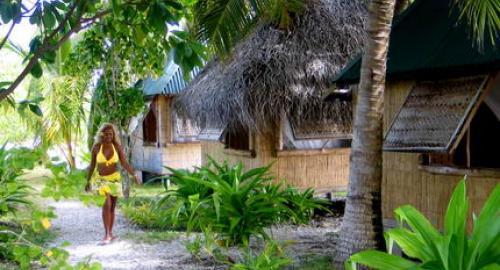 Pension Tetamanu Village : Hébergement