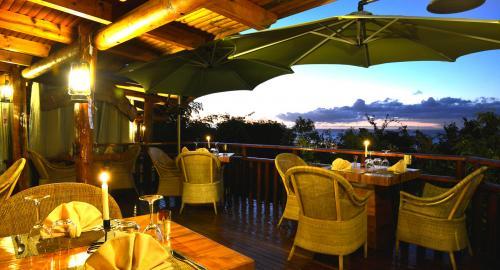 Lodge Roche Tamarin & Spa : Restauration